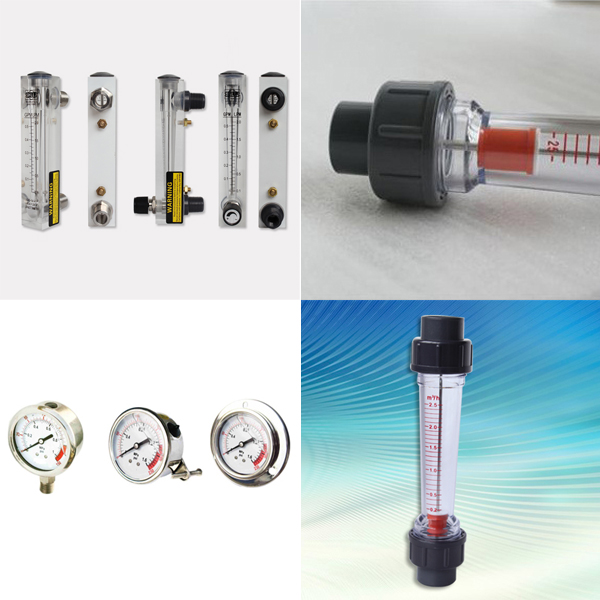 Flow Meter And Pressure Gauge